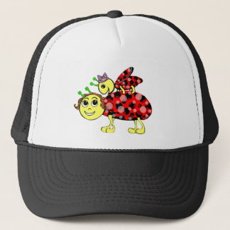 Ladybug Love Customize or add Text Trucker Hat