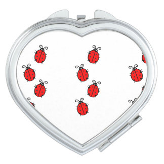 Ladybug Luck Custom Personalize Anniversaries Compact Mirrors