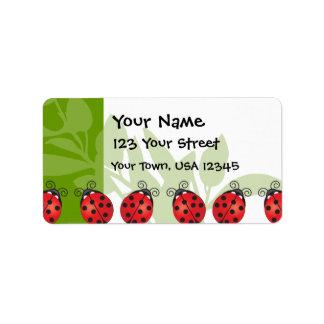 Ladybug Luck Label