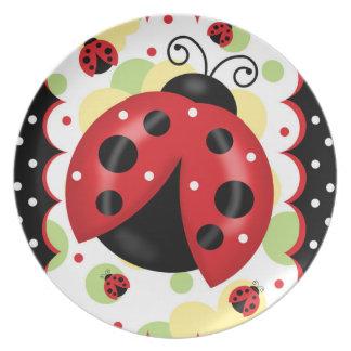 Ladybug Melamine Plate