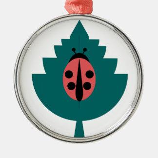 Ladybug Metal Ornament