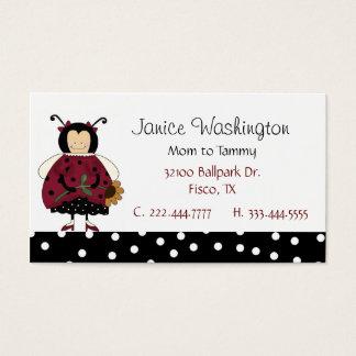 Ladybug Mommy Card