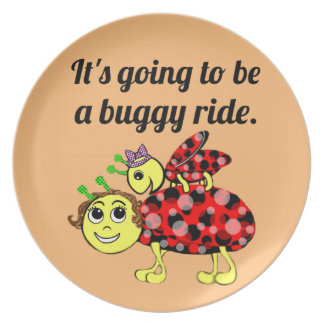 Ladybug Movie Buff Bugs at the Picnic Plate