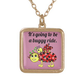 Ladybug Movie Buff Charmed Gold Plated Necklace
