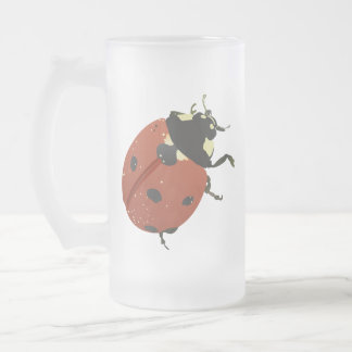 LadyBug Office Home  Personalize Destiny Destiny'S Frosted Glass Beer Mug