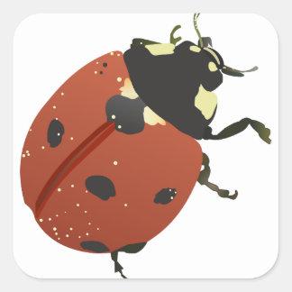 LadyBug Office Home  Personalize Destiny Destiny'S Square Sticker
