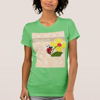Ladybug on Bisque Color Paisley T-Shirt