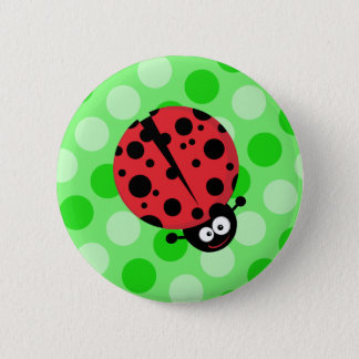 Ladybug on Polka Dots 2 Inch Round Button