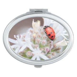 Ladybug on Silverleaf Phacelia Flowers Mirror Vanity Mirror
