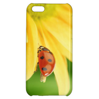 Ladybug on sunflower iPhone 5C covers