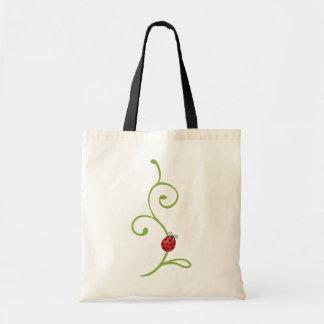 Ladybug on Vine Budget Tote Bag