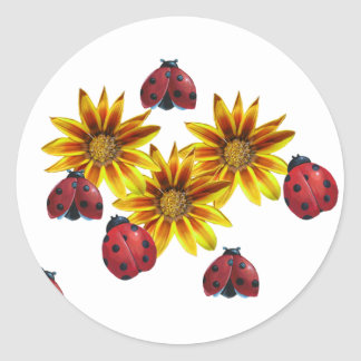 Ladybug Party Classic Round Sticker