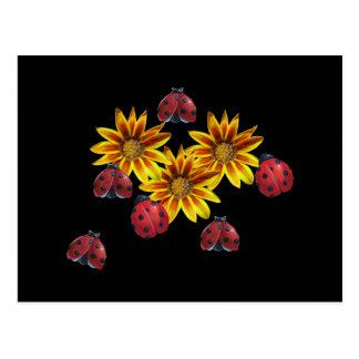 Ladybug Party Postcard
