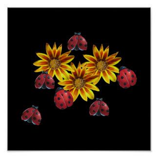 Ladybug Party Posters