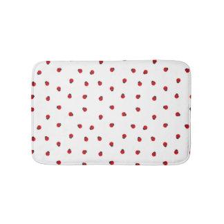 Ladybug Pattern Bath Mat