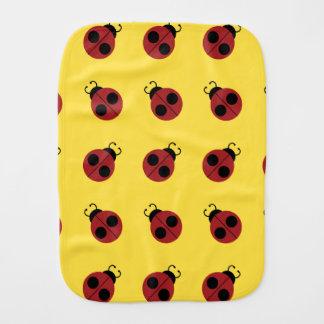 Ladybug pattern Design Baby Burp Cloth
