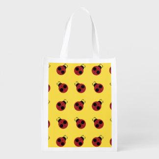 Ladybug pattern Design Market Totes