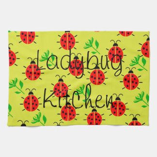 Ladybug Pattern Kitchen Towel