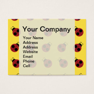 Ladybug Pattern on Yellow Graphic Business Card