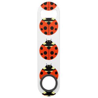 ladybug pattern speed bottle opener