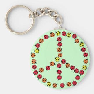 Ladybug Peace Keychain