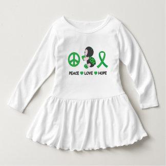 Ladybug Peace Love Hope Green Awareness Ribbon Dress