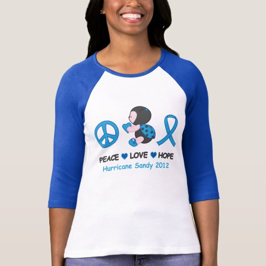 Ladybug Peace Love Hope Hurricane Sandy T-Shirt
