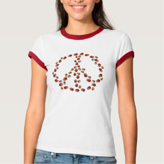 Ladybug Peace Womens T-Shirt