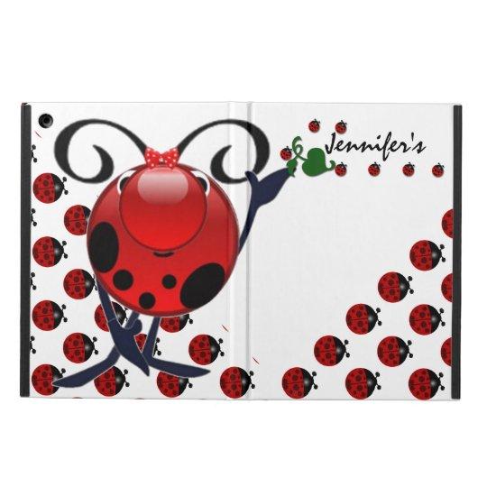 Ladybug personalized iPad air case