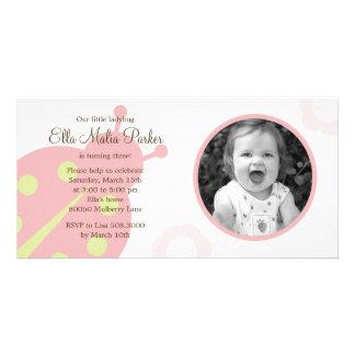 Ladybug Photo Birthday Invitation Photo Cards