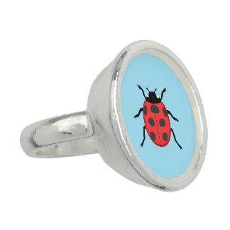 Ladybug Photo Ring