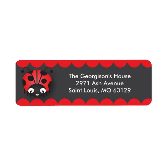 Ladybug Polka Dot Birthday Party Address Labels