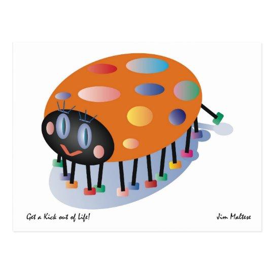 LADYBUG POSTCARD GREETING / JIM MALTESE