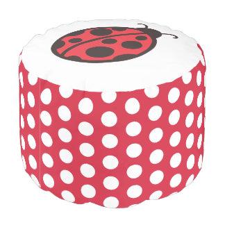 Ladybug Pouf Pillow ottoman seat Decor
