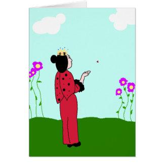 Ladybug Princess Lets Go Card