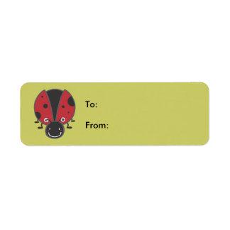 Ladybug Return Address Label