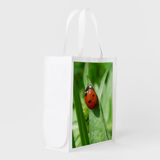 ladybug reusable grocery bag