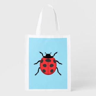 Ladybug Reusable Grocery Bag
