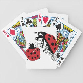Ladybug Riding Bike With Ladybug Wheel Bicycle Playing Cards