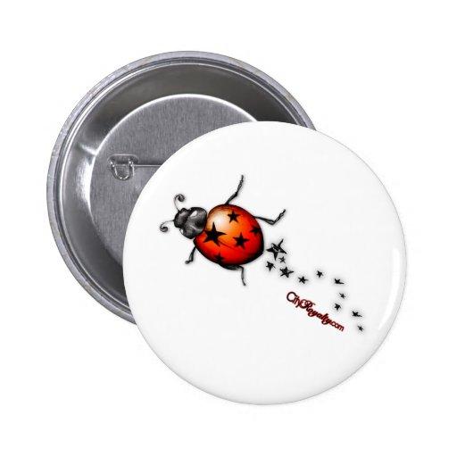 Ladybug Rockstar Pin