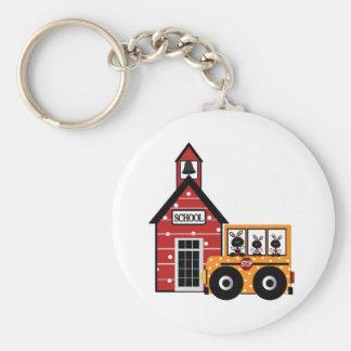 Ladybug School and School Bus Tshirts and Gifts Keychain