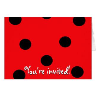 Ladybug Spots Invitation