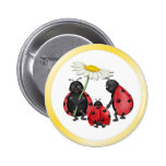 Ladybug Stroll Pinback Buttons