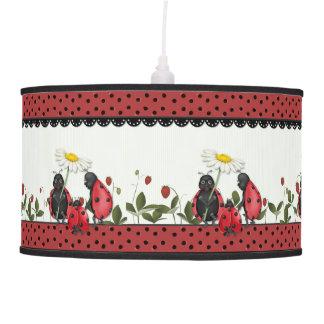 Ladybug Stroll Polka Dots Ceiling Lamp