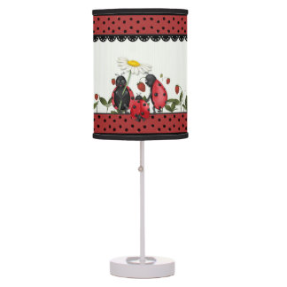 Ladybug Stroll Polka Dots Table Lamp