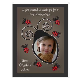 Ladybug Thank You Card Post Card