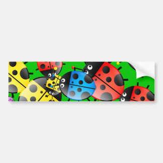 Ladybug Wallpaper Bumper Sticker