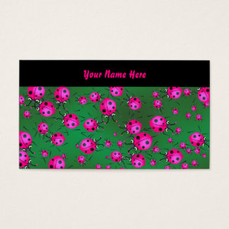 Ladybug Wallpaper, Your Name Here Business Card