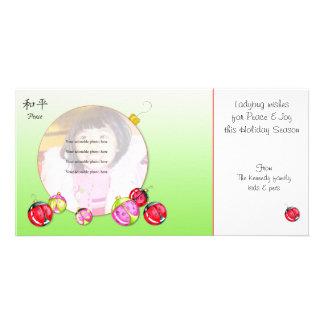 Ladybug Wishes Christmas card Photo Card Template