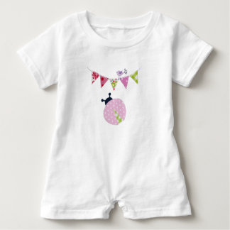 LadyBug with party Flags Baby Romper
